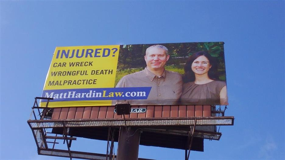 Cookeville Billboard for injury lawyer