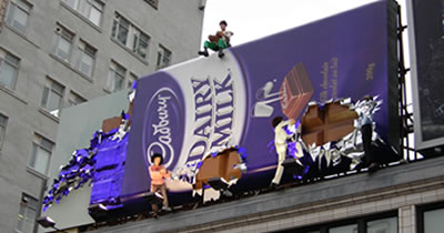 sample billboard for Cadbury Chocolate