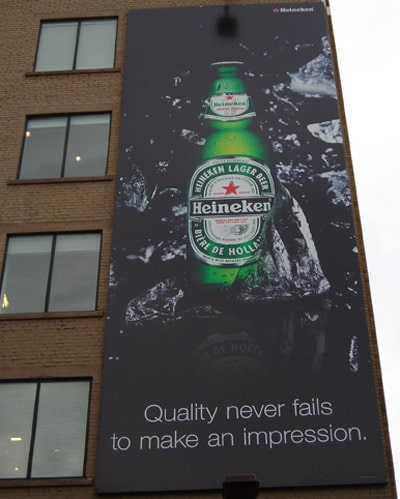 Sample Billboard featuring Heineken
