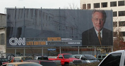 Sample Billboard featuring CNN and Wolf Blitzer