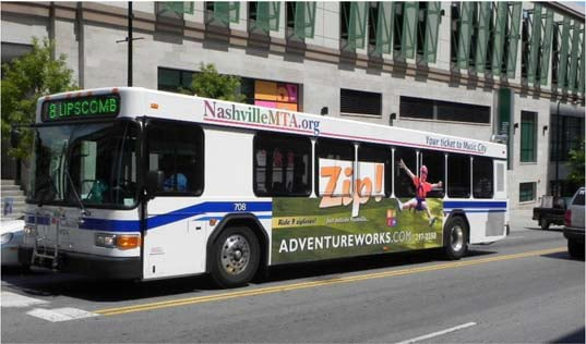 Example of a King bus ad