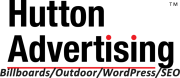 Hutton Advertising Logo with tagline Billboards/Outdoor Advertising/WordPress/SEO