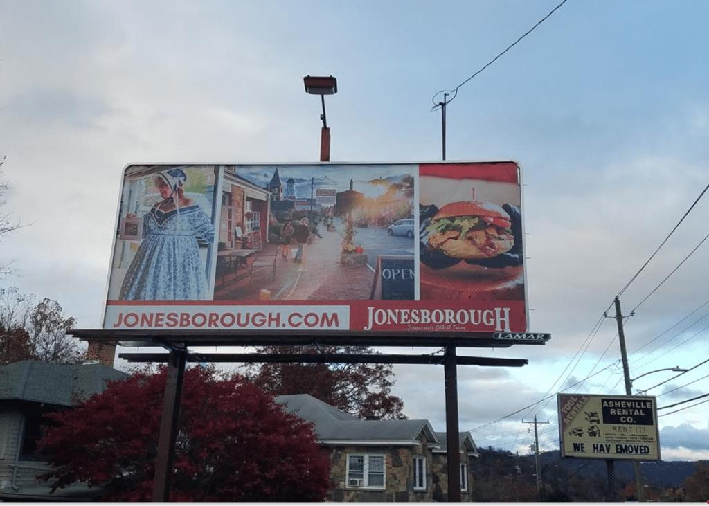 Sample Tourism Artwork for Town of Jonesborough in Asheville