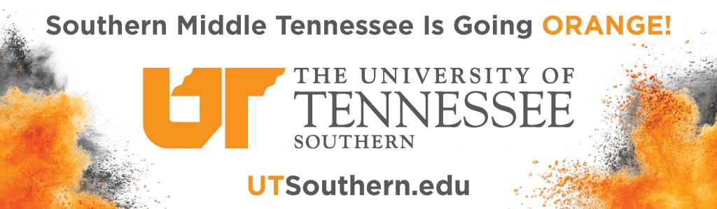 Billboard for UT Southern in Pulaski TN to announce the new campus